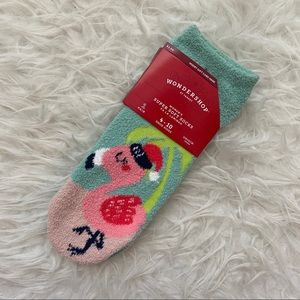 Fuzzy Flamingo Socks